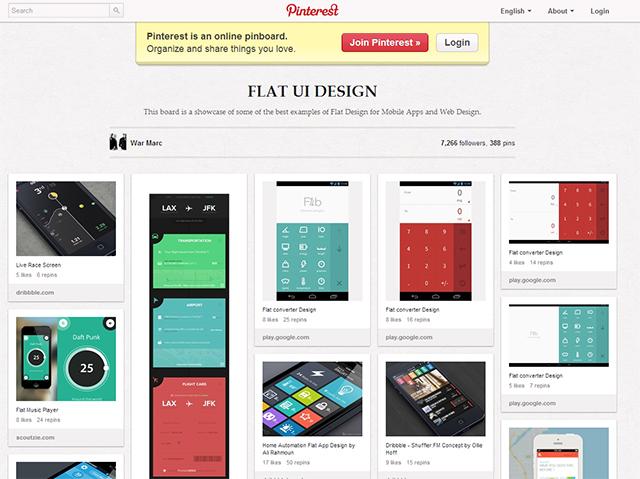 フラットデザイン参考サイト