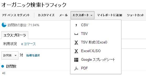Googleアナリティクスのデータエクスポート